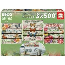EDUCA : DECO PUZZLE 3 x 500...