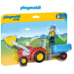 PLAYMOBIL : 1.2.3  TRACTOR...